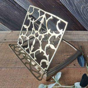 Vintage Brass Folding Book Stand IPad Holder